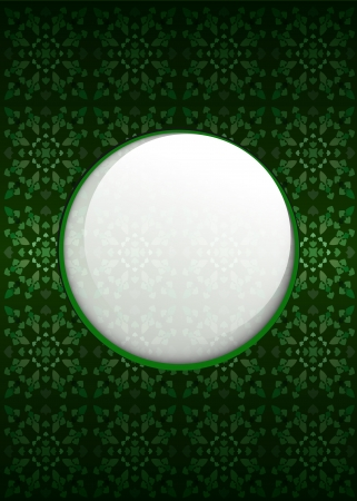 secession: green secession pattern with blank text circle vector illustration