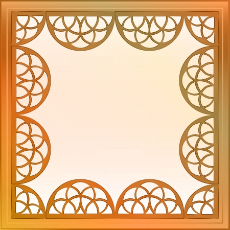 inner decorated vector baroque bronze square frame illustration Stock Vector - 20942876