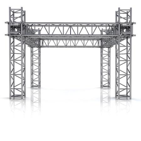 eenvoudige ijzeren nieuwbouw frame illustratie Stockfoto