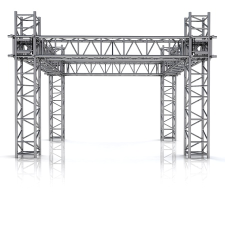 simple iron new building construction frame illustration Stock Photo