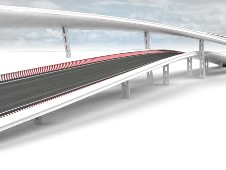 viaduct: two viaduct motorways with sky background illustration