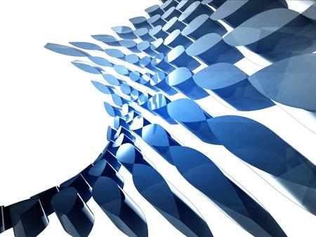 isolated bended blue shape design wallpaper illustration