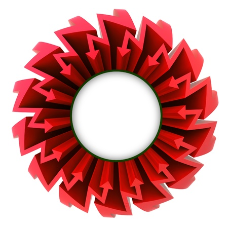 red arrow zigzag circle with blank center illustration illustration