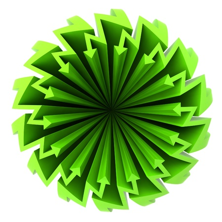 green arrow zigzag  circle composition illustration illustration