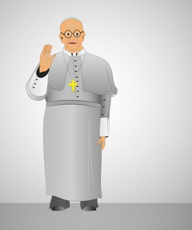 b�n�diction: premier pape de l'Argentine b�n�diction pour illustration chr�tiens