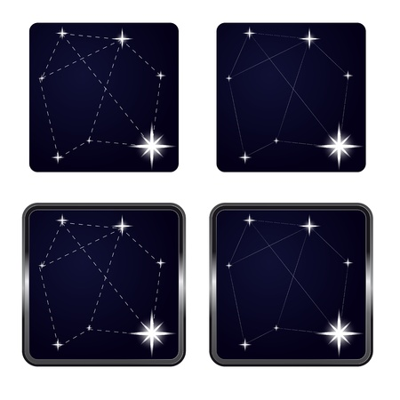 several stars in icon frame series vector illustration Vector