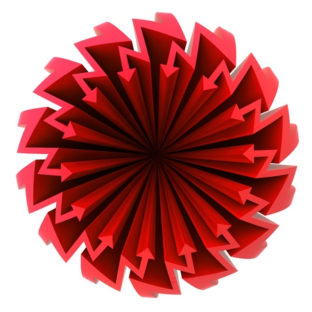 red arrow zigzag  circle composition illustration illustration