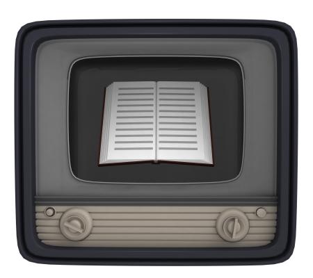 isolated education book in retro television illustration Stock Illustration - 21107047