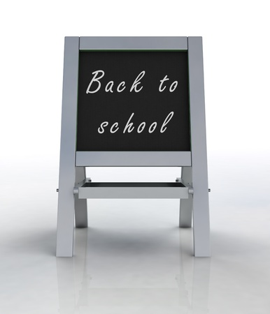 welcoming: isolated welcoming school metallic rack front view illustration