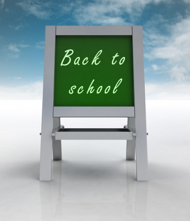 welcoming school metallic rack front view with sky illustration illustration