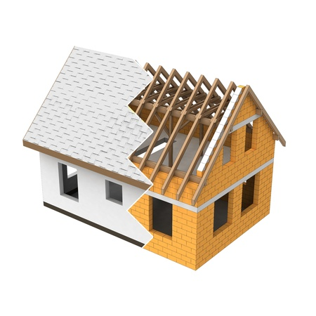 isolated house structural zigzag transition illustration illustration