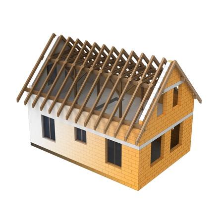isolated house roofing design blend transition illustration Stock Illustration - 21228652
