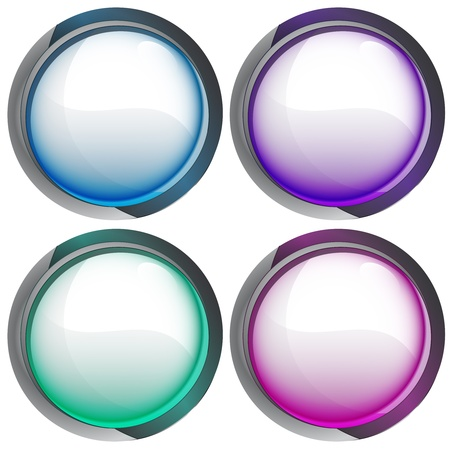 isolated colorful webdesign button series vector illustration illustration