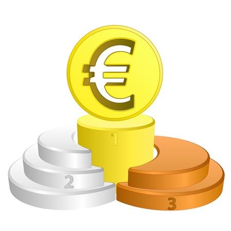 best podium place for euro vector illustration illustration