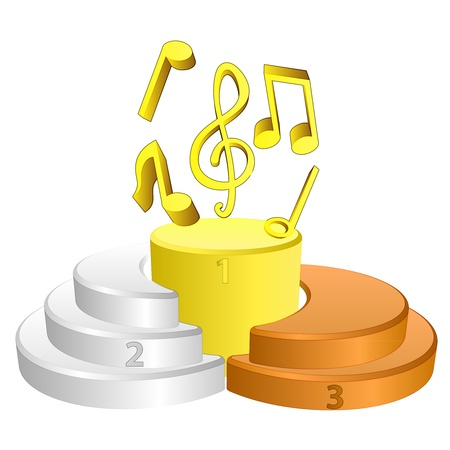 best podium place for music vector illustration illustration