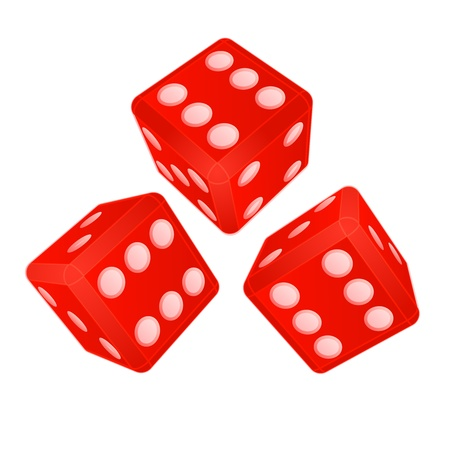 three dimensional dices with high score vector illustration Vector Illustration