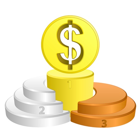 best podium place for dollar vector illustration Vector