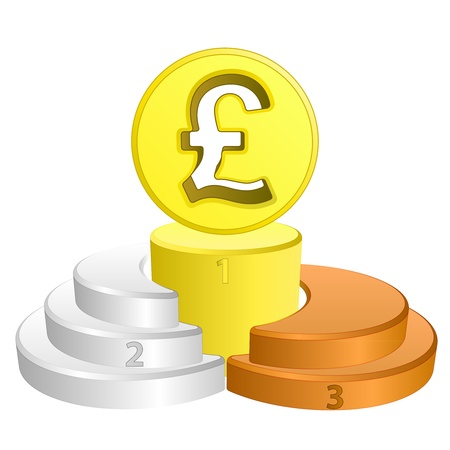 best podium place for british pound vector illustration Vector