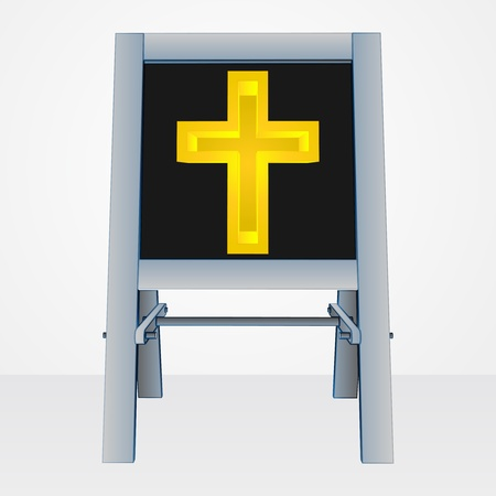 godness: religion presentation on easel board vector illustration