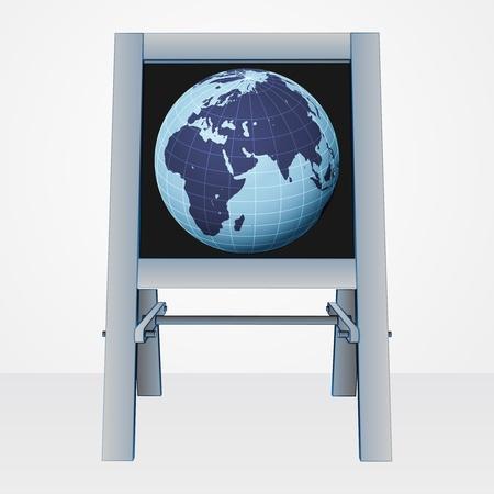 africa world presentation on easel board vector illustration Stock Vector - 21229067