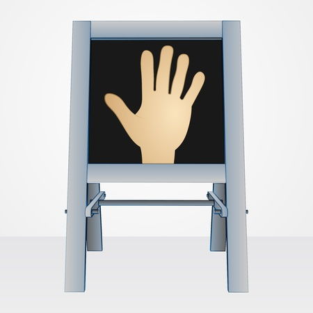 hand drawing on easel board vector illustration Vector