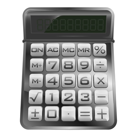 isolated new modern mathematical calculator illustration Vector