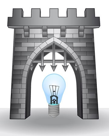 invention: gate pass to invention with bulb illustration