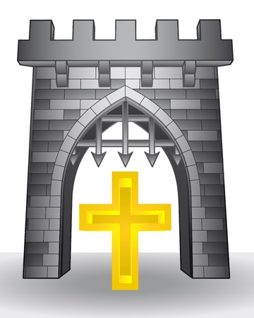 godness: gate pass to religion with cross