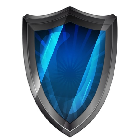 new blue protection steel shield Vector