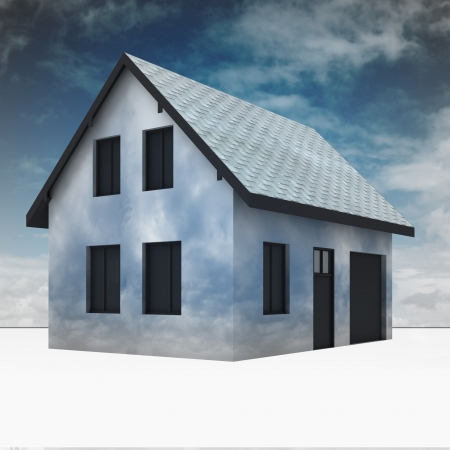rafter: cloudy house imagination in sky dream illustration