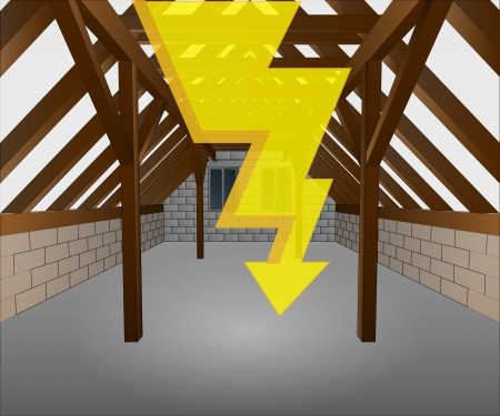 rafter: attic under construction with key illustration Illustration