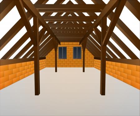 건설 집 수탉 로프트