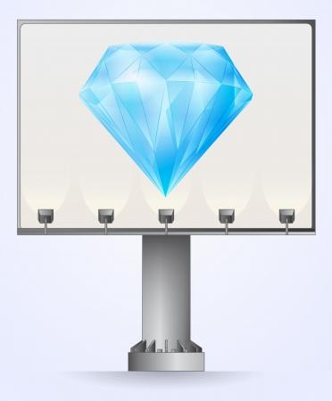 bilboard: bilboard advertisement for luxurious diamond