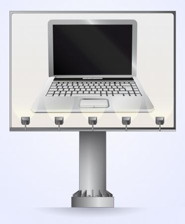 billboard advertisement for internet communication  Stock Vector - 21659714