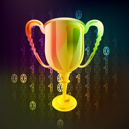champions win in binary internet space Vector