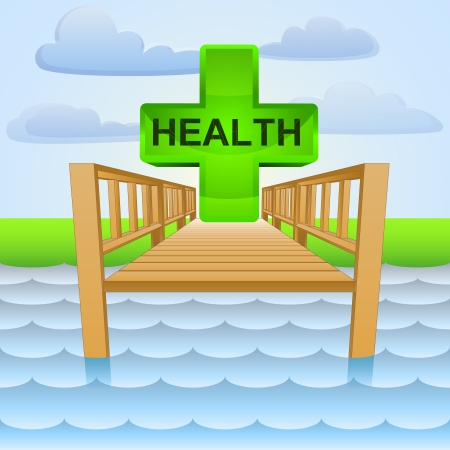 wharf: river pier with summer healthy relax