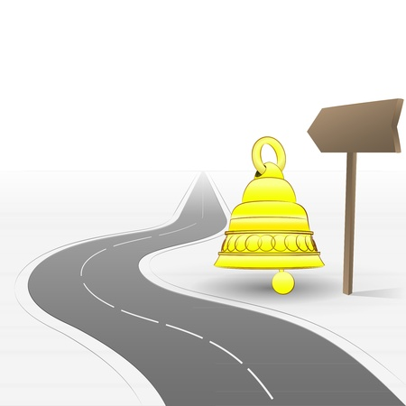 road ring: road welcoming visitation with bell  Illustration