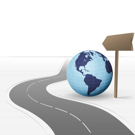 road leading to american world exploration  Vector