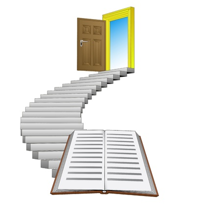 stairway path leading to education and knowledge  Stock Vector - 21659965