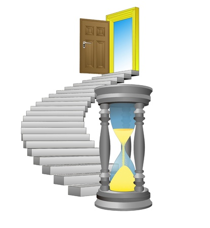 spiral stairway: spiral stairway with sand-glass concept