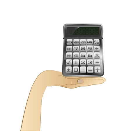 business calculator in your hand Vector