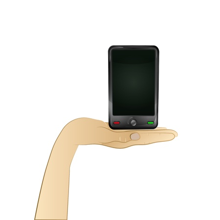 smart phone technology in your hand  Vector