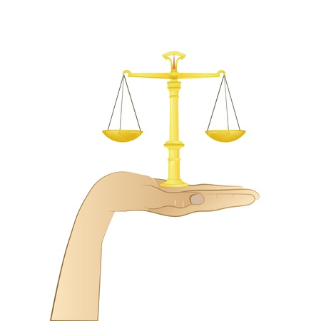 weight of justice in your hand  Vector