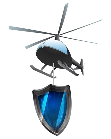 antiviral: helicopter delivery of antiviral shield