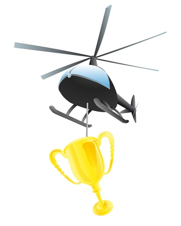 helicopter transport of champions Cup  Vector