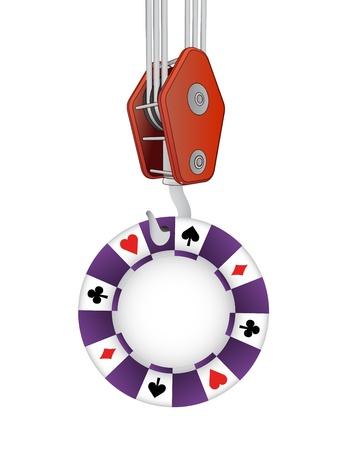 outdoor goods: hook transport of casino poker chip