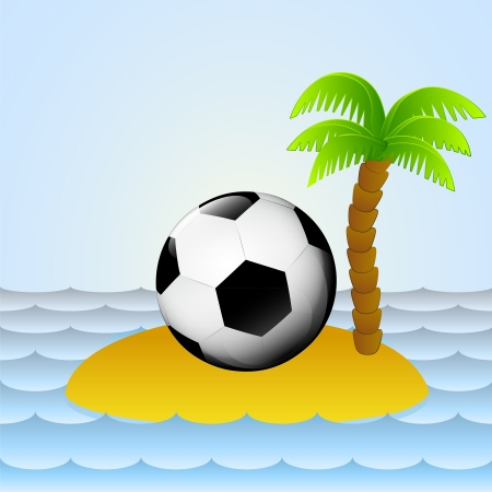 lonely island with holiday football play  Vector