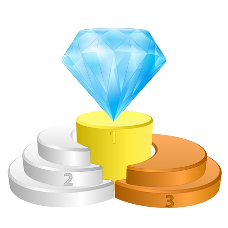 greatest: winner podium for greatest diamond  Illustration