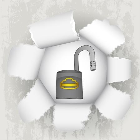 revelation: torn paper revelation and open padlock