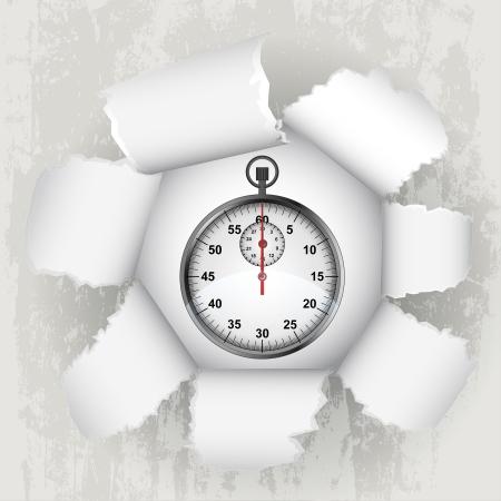 revelation: torn paper revelation of time value  Illustration